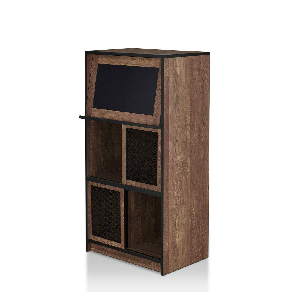 Image of Jucar Rustic Bookcase with Chalkboard Oak - miBasics