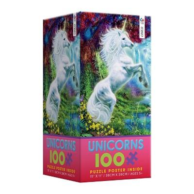 Rainbow Unicorn Family Puzzle 100pc