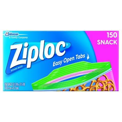 Ziploc Easy Open Snack Bags - 150ct