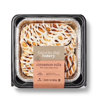 Cinnamon Rolls with Cream Cheese Icing - 14oz/4ct - Favorite Day™
