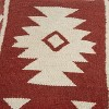 """18""""x18"""" Southwestern Striped Square Throw Pillow Red/Ivory - Rizzy Home - image 4 of 4"""