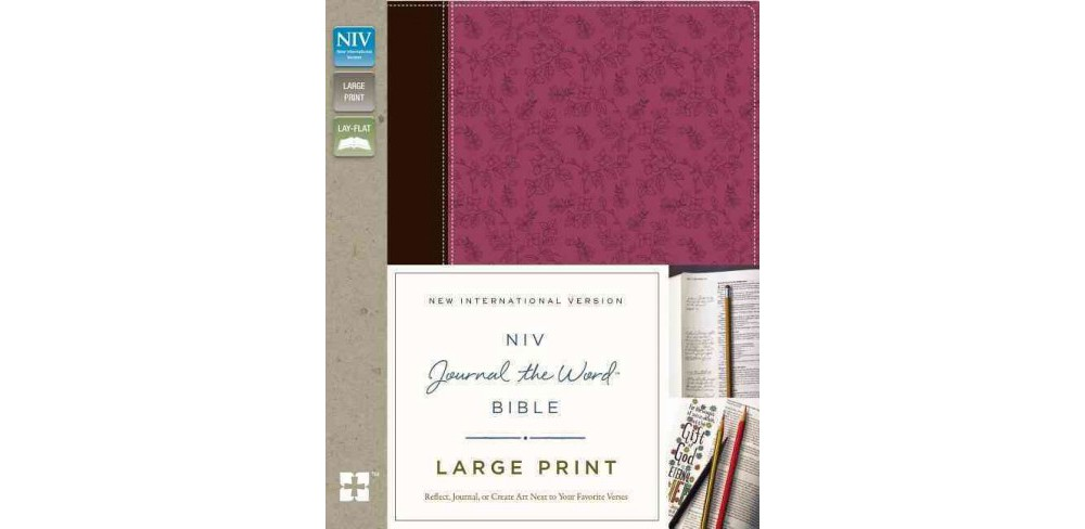 Zondervan NIV Journal the Word Bible : New International Version, Orchid / Chocolate, Italian Duo-tone, Reflect,