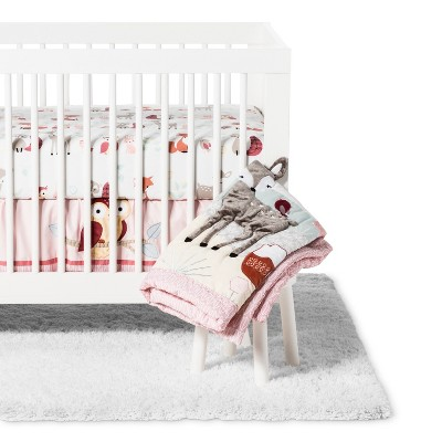 Lambs & Ivy Crib Bedding Set Little Woodland 4pc