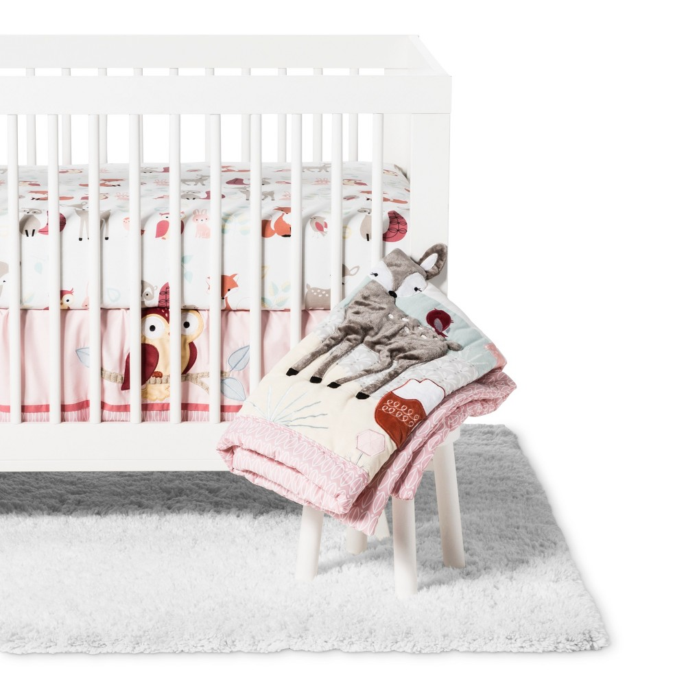 Image of Lambs & Ivy Crib Bedding Set Little Woodland 4pc