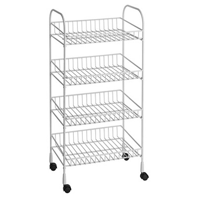 ClosetMaid 4 Tier Wire Utility Cart White