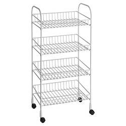 ClosetMaid 4-Tier Wire Utility Cart - White