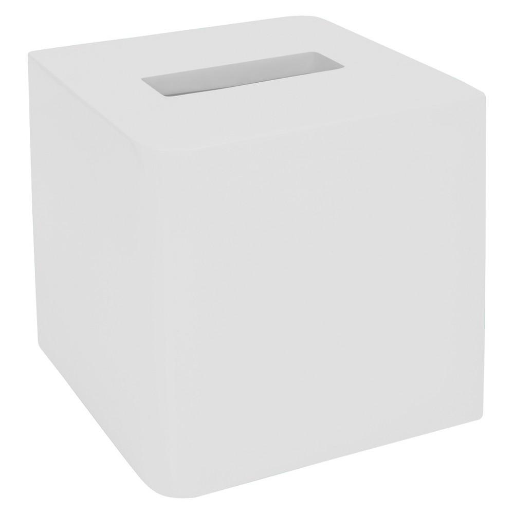 Image of Lacquer Tissue Holder White - Cassadecor