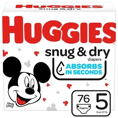 Huggies Snug & Dry Diapers Super Pack - Size 5 - 76ct