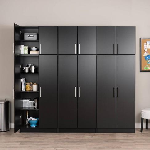 6 Storage Cabinet Set Black Prepac, Target Storage Cabinets Furniture