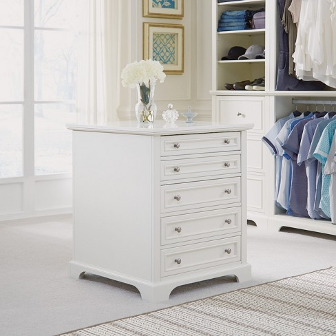 Naples Closet Island - White - Home Styles - image 1 of 4