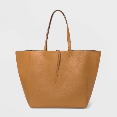 Reversible Magnetic Closure Tote Handbag - A New Day™