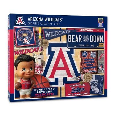 NCAA Arizona Wildcats Throwback Puzzle 500pc