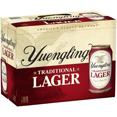 Yuengling Traditional Lager Beer - 12pk/12 fl oz Cans