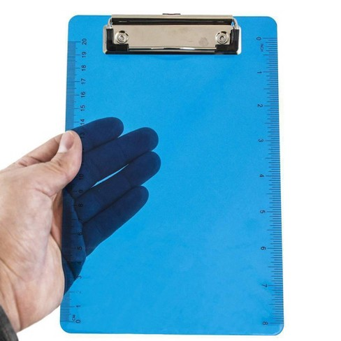 """JAM Paper 6"""" x 9"""" Small Plastic Memo Clipboards with Low Profile Metal Clip - Mini - image 1 of 4"""