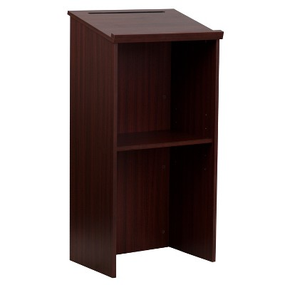 Flash Furniture Stand-Up Wood Lectern