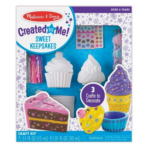 Melissa DougR Decorate Your Own Sweets Set Craft Kit 2 Treasures Boxes And A Cake Bank Target