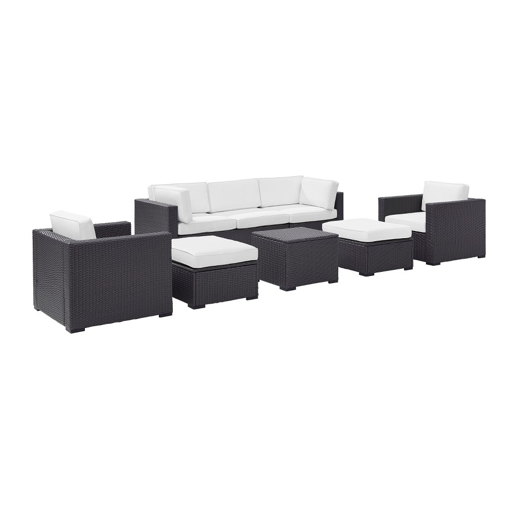 Biscayne 7pc All-Weather Wicker Patio Seating Set - White - Crosley