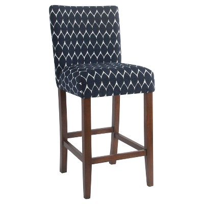 Classic Parsons Barstool - Textured Navy - HomePop