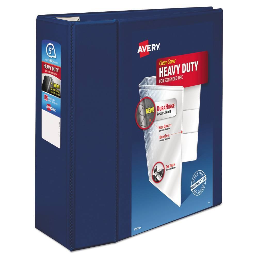 "Image of ""Avery 1050 Sheet 5"""" Ring Binder Heavy Duty - Navy Blue"""