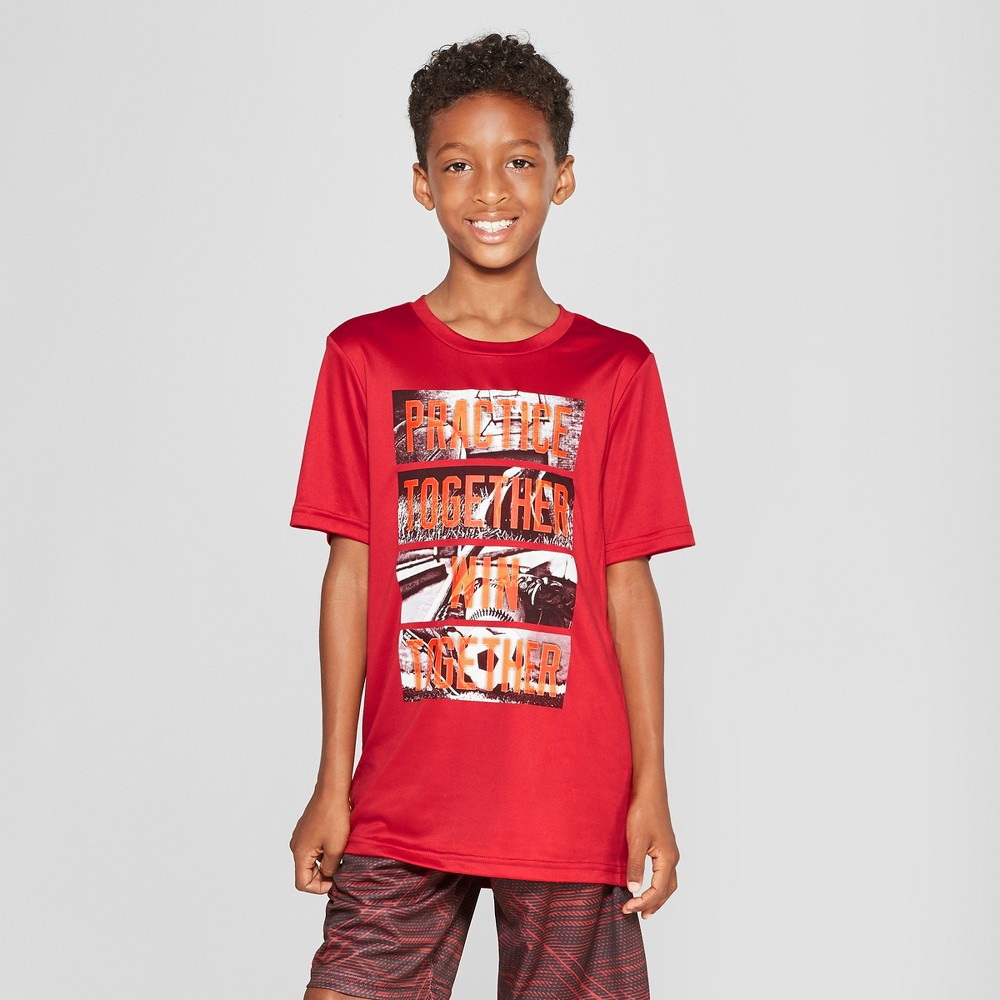 Boys' Graphic Tech T-Shirt - C9 Champion Practice Together Win Together Red S