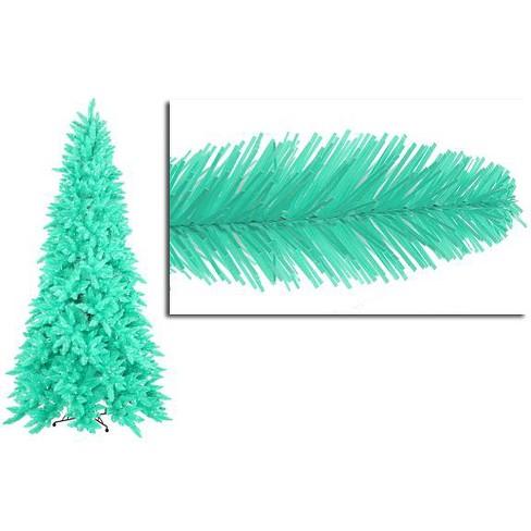 9 Artificial Christmas Tree.Vickerman 9 Prelit Artificial Christmas Tree Seafoam Green Spruce Clear Green Lights