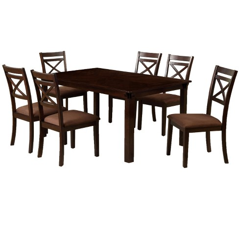 7pc Dallas Dining Table Set Espresso - ioHOMES - image 1 of 3