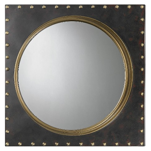 Square Decorative Wall Mirror Gold - Lazy Susan - image 1 of 1