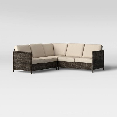 3pc Monroe Motion Patio Sectional Tan - Threshold™