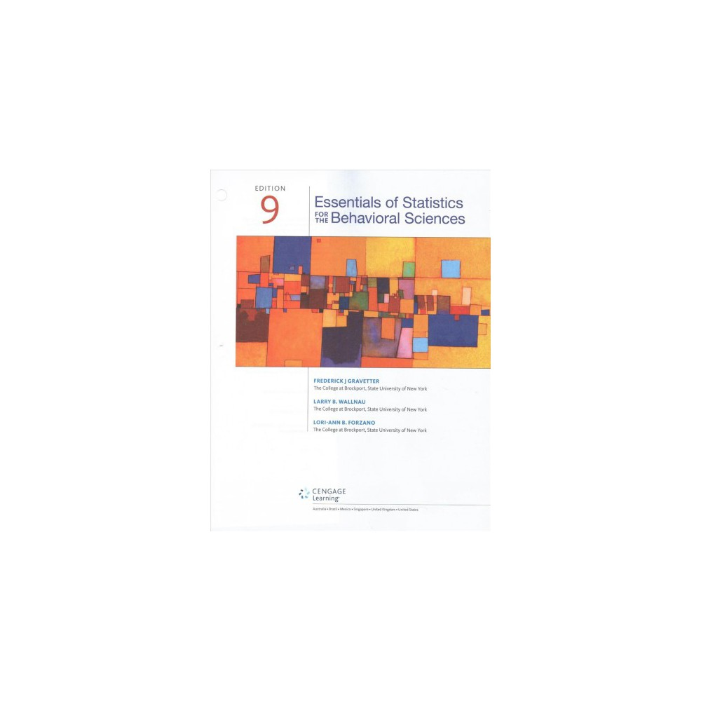 Essentials of Statistics for the Behavioral Sciences (Paperback) (Frederick J. Gravetter & Larry B.