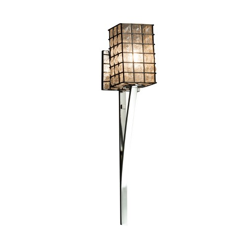 """Justice Design Group WGL-8791-15-GRCB-LED1-700 Wire Glass 4.5"""" Sabre 1 Light LED Wall Sconce - image 1 of 1"""