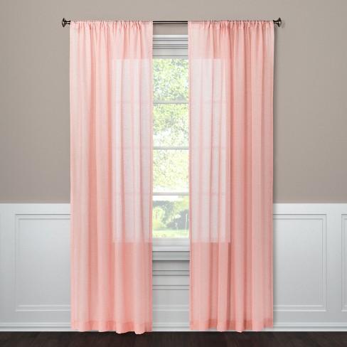 Curtain Panel Sheer Blush 95 Threshold Target