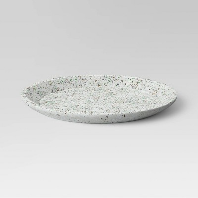 No. 1 Concrete Terrazzo Round Tray White - Project 62™