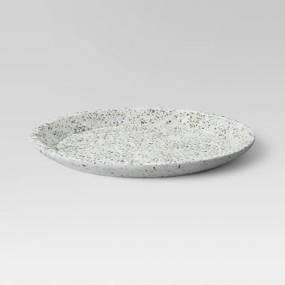 No. 1 Concrete Terrazzo Round Tray White - Project 62™