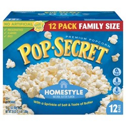 Pop Secret Movie Theater Butter Microwave Popcorn 12ct Target