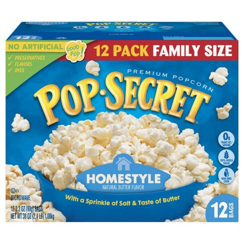 Pop Secret Homestyle Microwave Popcorn - 12ct - image 1 of 4