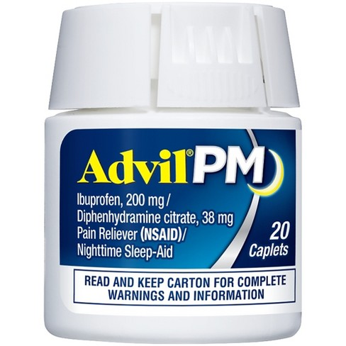 Advil PM Pain Reliever & Nighttime Sleep Aid Caplets - Ibuprofen (NSAID)/Diphenhydramine - image 1 of 5