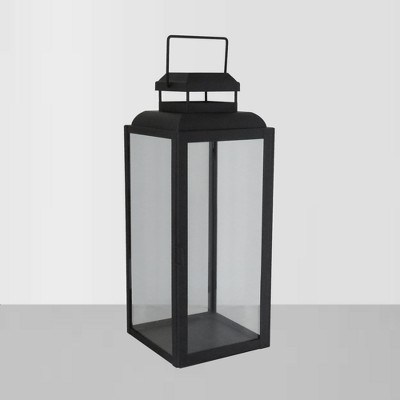 21.9  Glass Outdoor Lantern with Black Frame - Threshold™