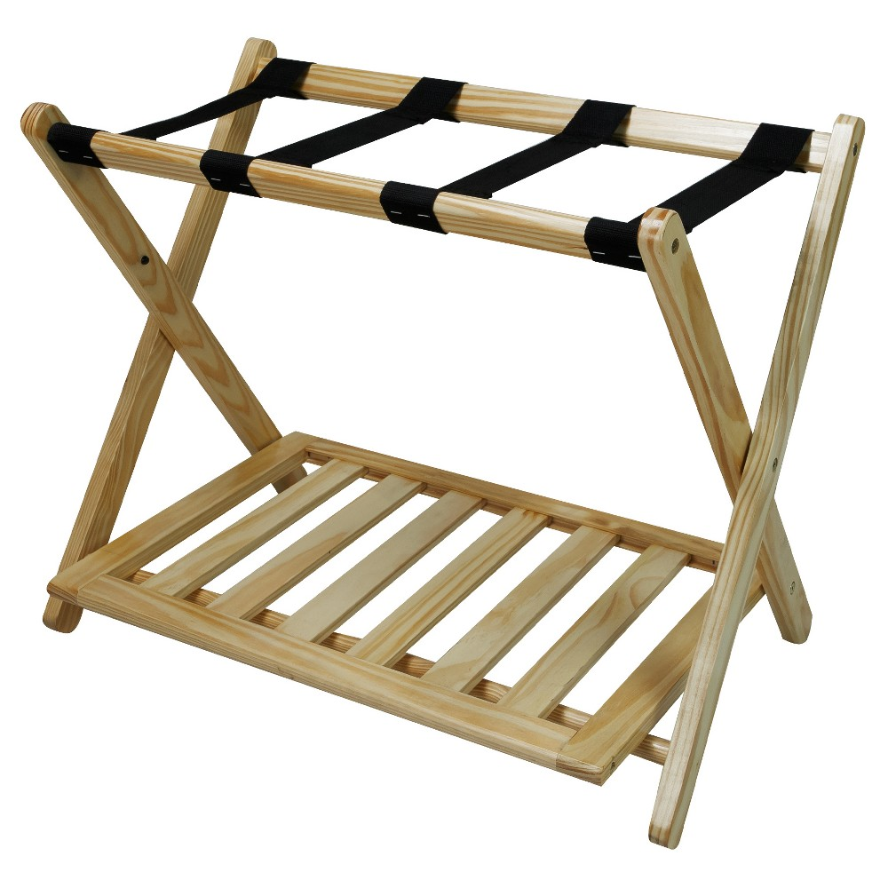 Luggage Rack with Shelf - Natural - Flora Home