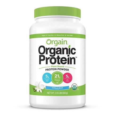 Orgain Organic Vegan Protein Plant-Based Protein Powder - Sweet Vanilla Bean - 2.03lbs - image 1 of 4