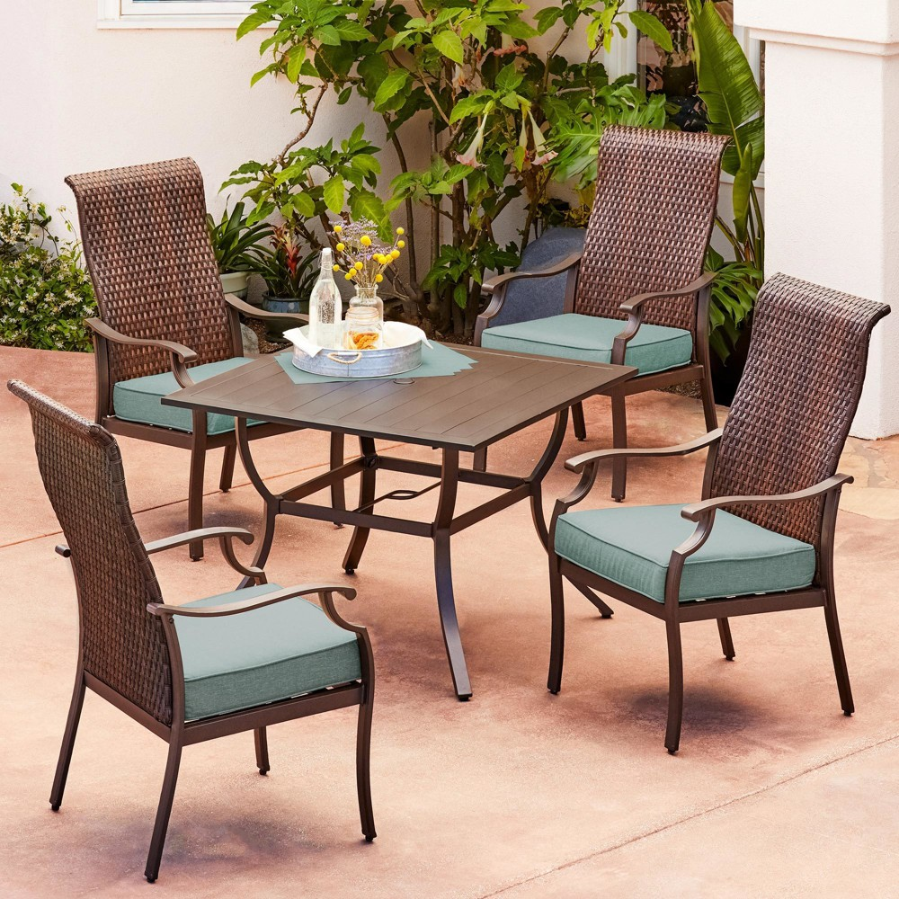 Image of 5pc Rhone Valley Dining Teal - Royal Garden