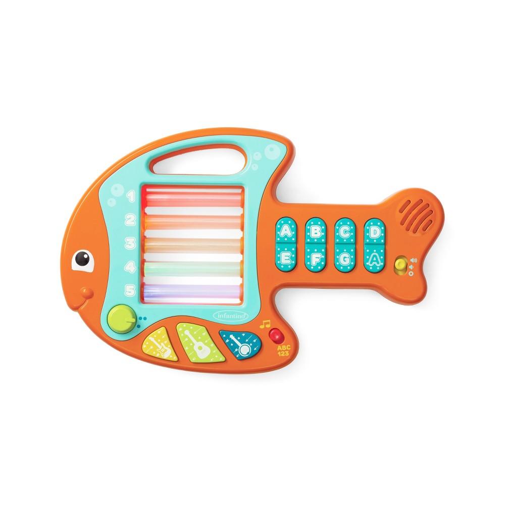 Image of Infantino Go Gaga! Lights & Music Learning Fish Guitar