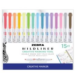 15ct Dual-tip Creative Marker - Zebra Mildliner