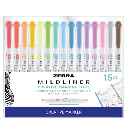 15ct Dual-tip Creative Marker - Zebra Mildliner : Target