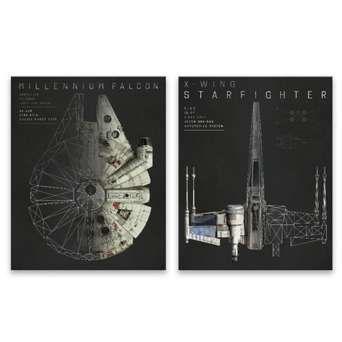 "Star Wars 20""x16"" 2pc Falcon Wall Art - image 1 of 3"
