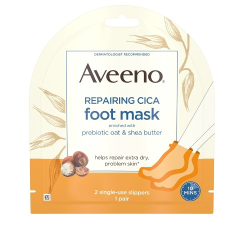 Aveeno Repairing CICA Moisturizing Foot Mask with Oat 1 Pair - image 1 of 4