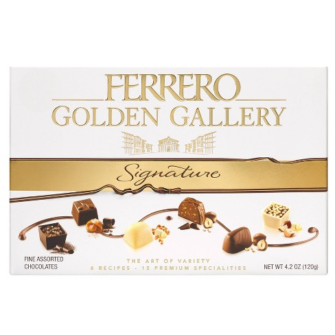 Ferrero Rocher Golden Gallery Signature Fine Assorted Chocolates - 12ct - image 1 of 4