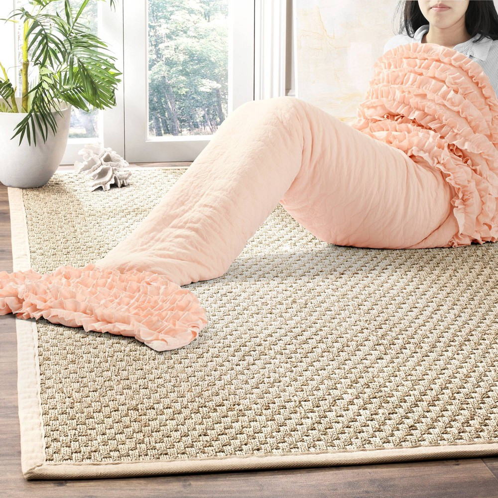 "Image of ""30""""x75"""" Mermaid Ruffle Sherpa Throw Blanket Peach - Lush Decor, Pink"""
