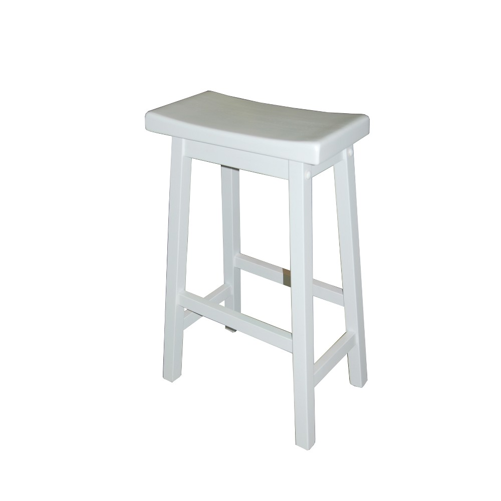 "Image of ""24"""" Arizona Saddle Stool White - Buylateral"""