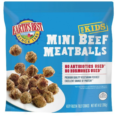 Earth's Best Baked Mini Frozen Beef Meatballs - 14oz - image 1 of 1