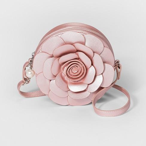 afb63d4c3d Girls  Flower Crossbody Bag - Cat   Jack™ Pink   Target